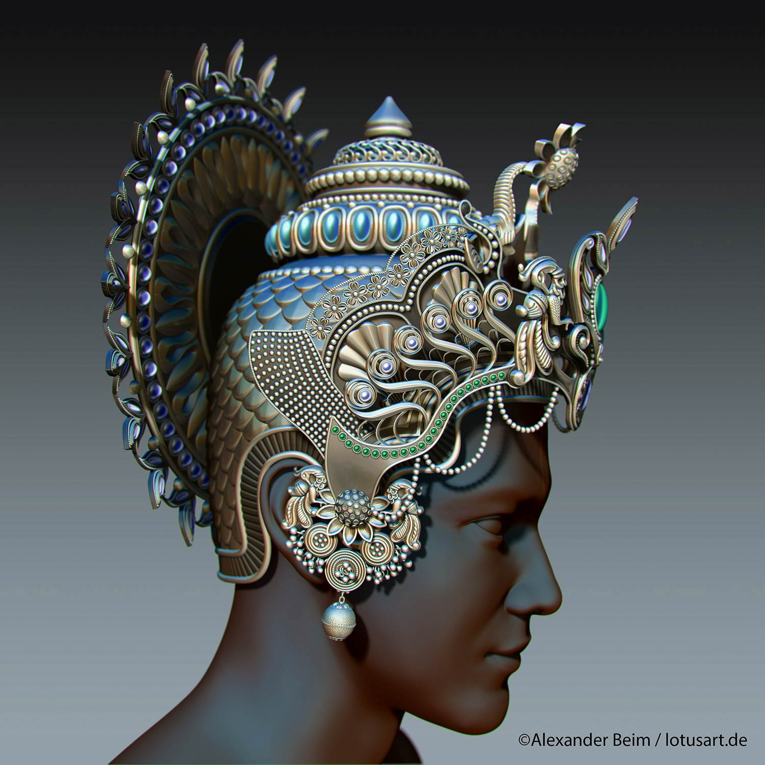 "3d_model_Krishna_Crown Digital sculpting ""Krishna Crown """