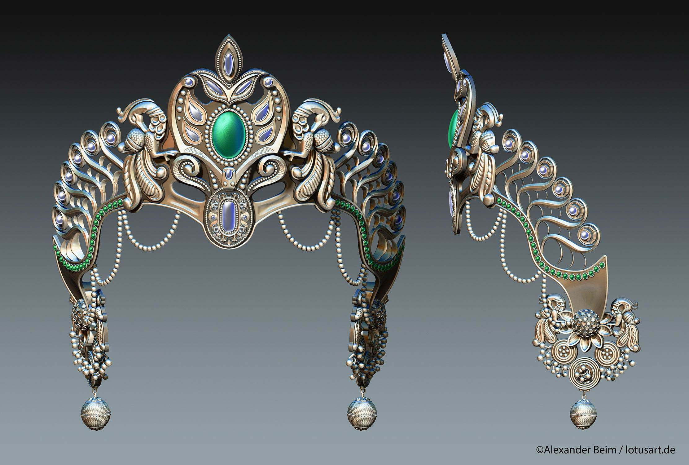 "3d_modeling_Krishna_Crown Digital sculpting ""Krishna Crown """