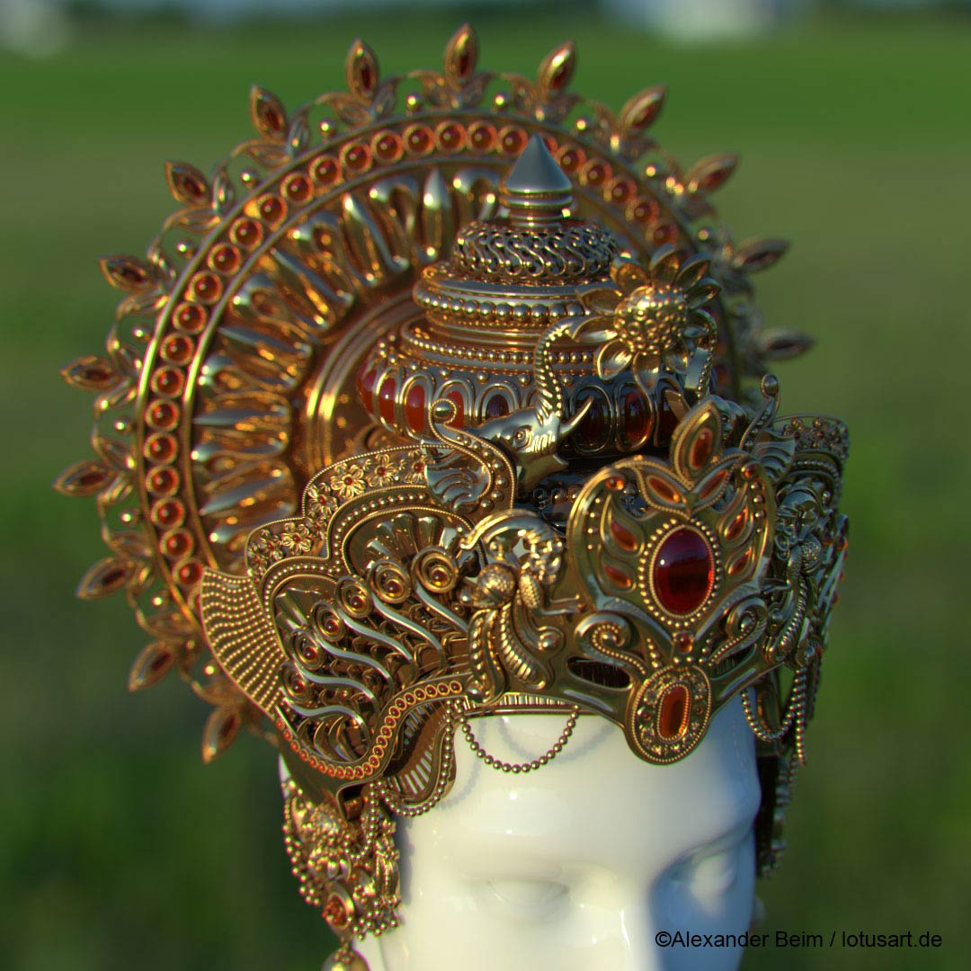 "cgi_budda_crown Digital sculpting ""Krishna Crown """