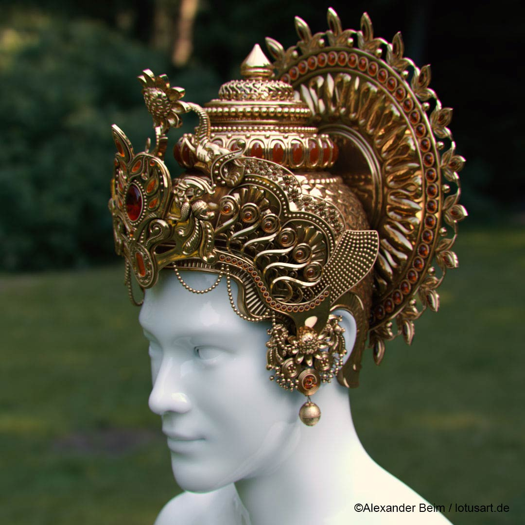 "indian_god_Krishna_Crown Digital sculpting ""Krishna Crown """