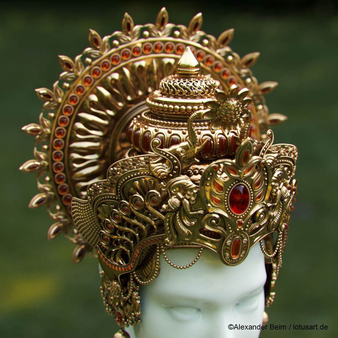 "ornaments_gold_design_Ganesha_Crown Digital sculpting ""Krishna Crown """