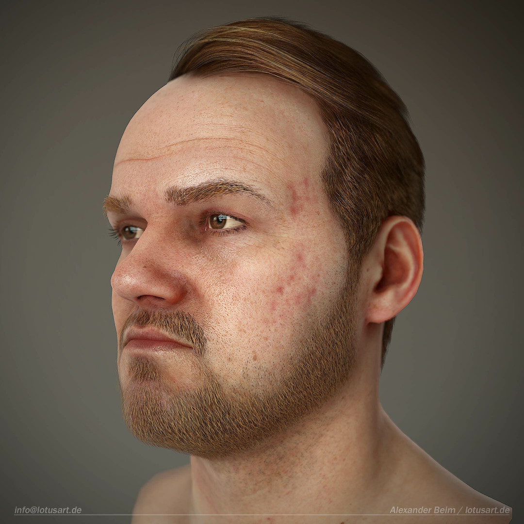 alexander-beim-real-time-character-hair-patches Realistischer Real-Time 3D Character for game