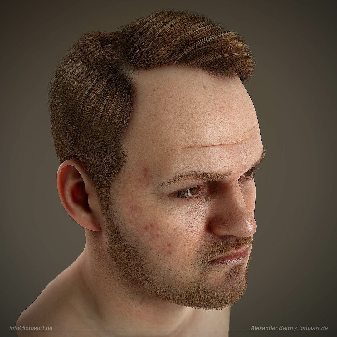 alexander-beim-real-time-character-hairs-for-games Realistischer Real-Time 3D Character for game