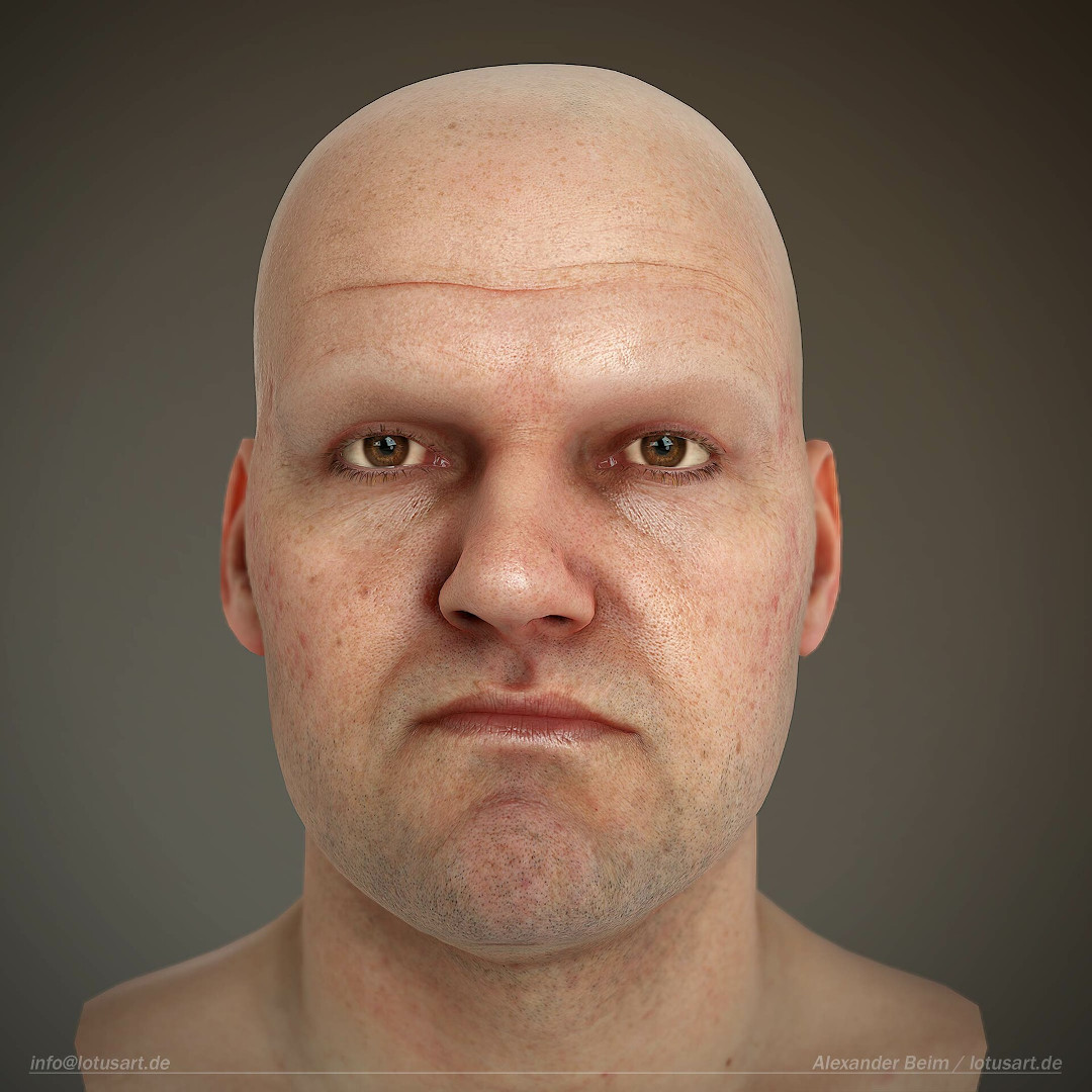 alexander-beim-real-time-character-marmoset-toolbag-skin-shader Realistischer Real-Time 3D Character for game