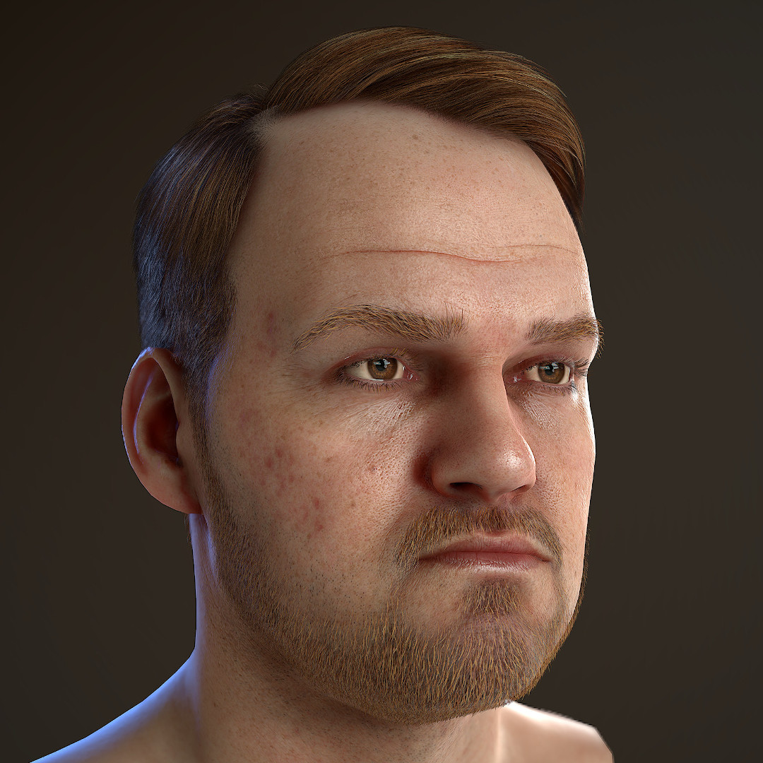 real_time_character_marmoset_toolbag_low_poly_for_games Realistischer Real-Time 3D Character for game