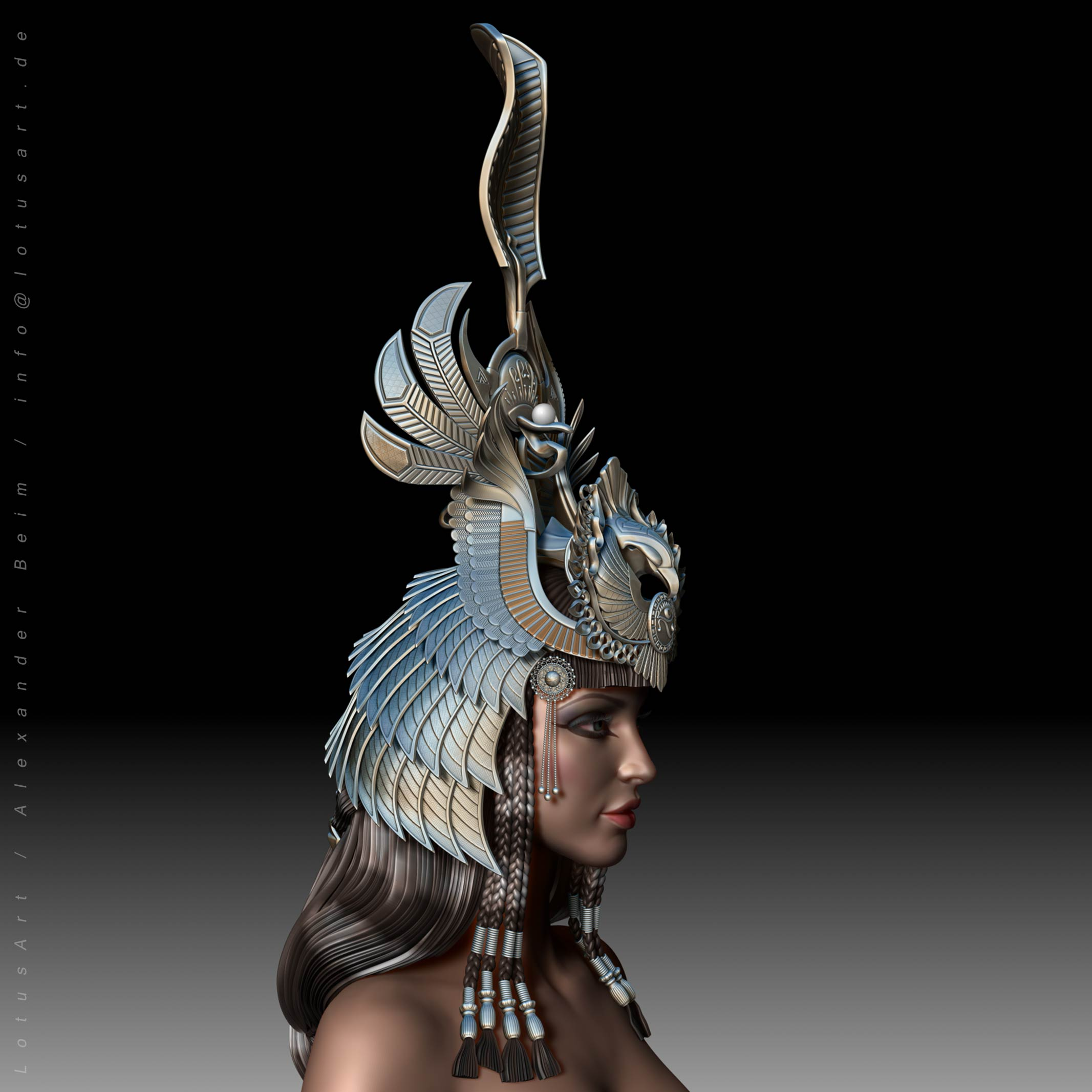 3d_modeling_character_woman_egypt 3D Cleopatra WIP