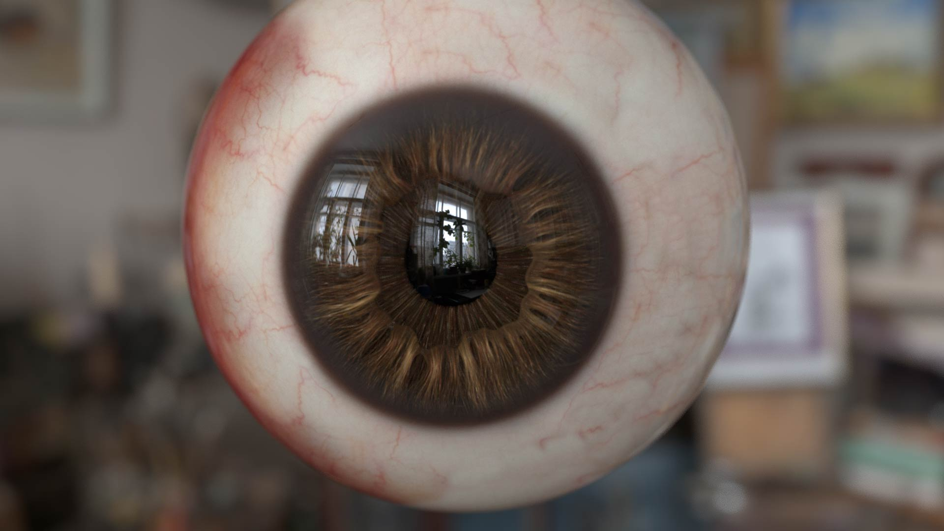 human_eyes_3d_two_layers_zbrush_rendering_braun Realistic Human Eye 3D Model