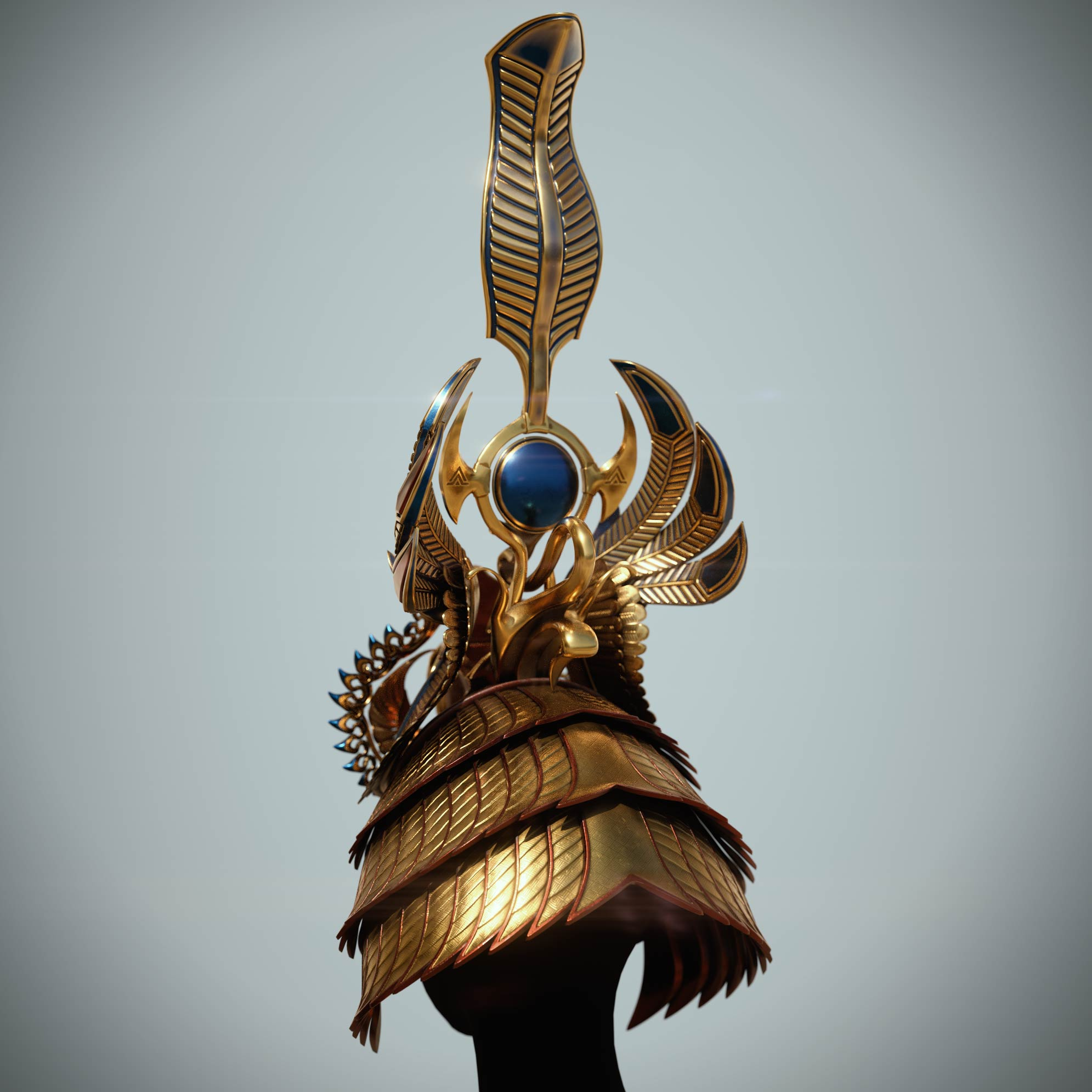 3d_design_concept_zbrush-modeling Egyptian queen crown
