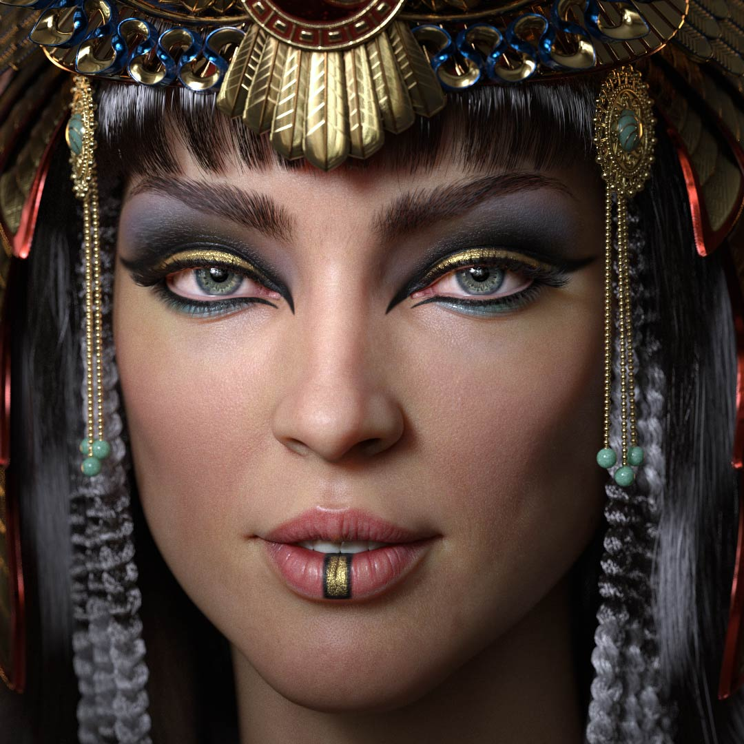 cleopatra_3d_character_historical_figure_pharaoh_egypt_face Cleopatra CG Character