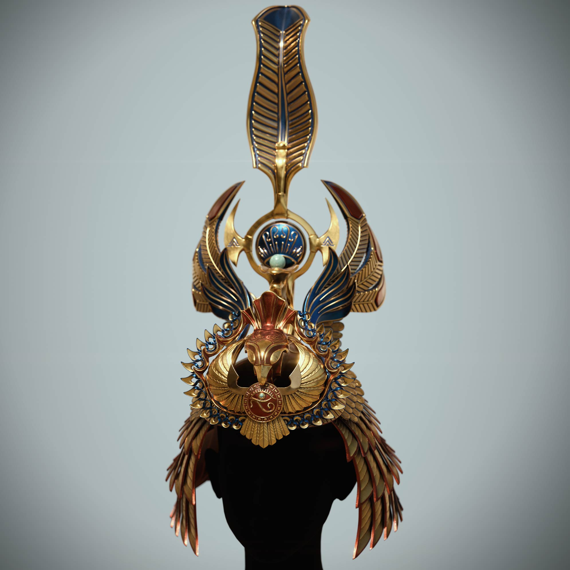 cleopatra_crown_zbrush_design1 Egyptian queen crown