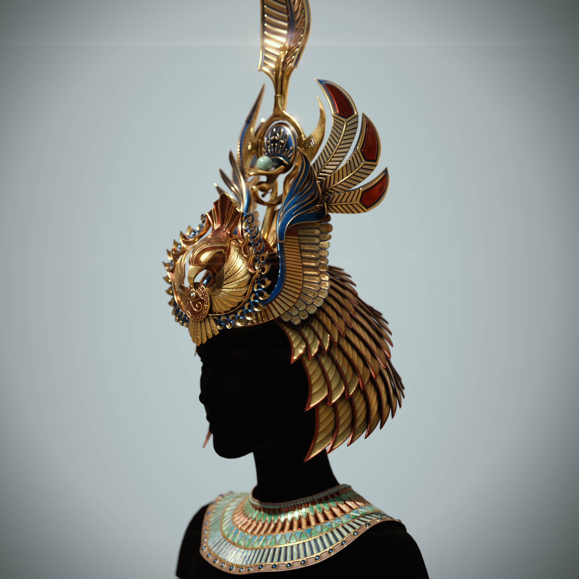 cleopatra_crown_zbrush_sculpting Egyptian queen crown