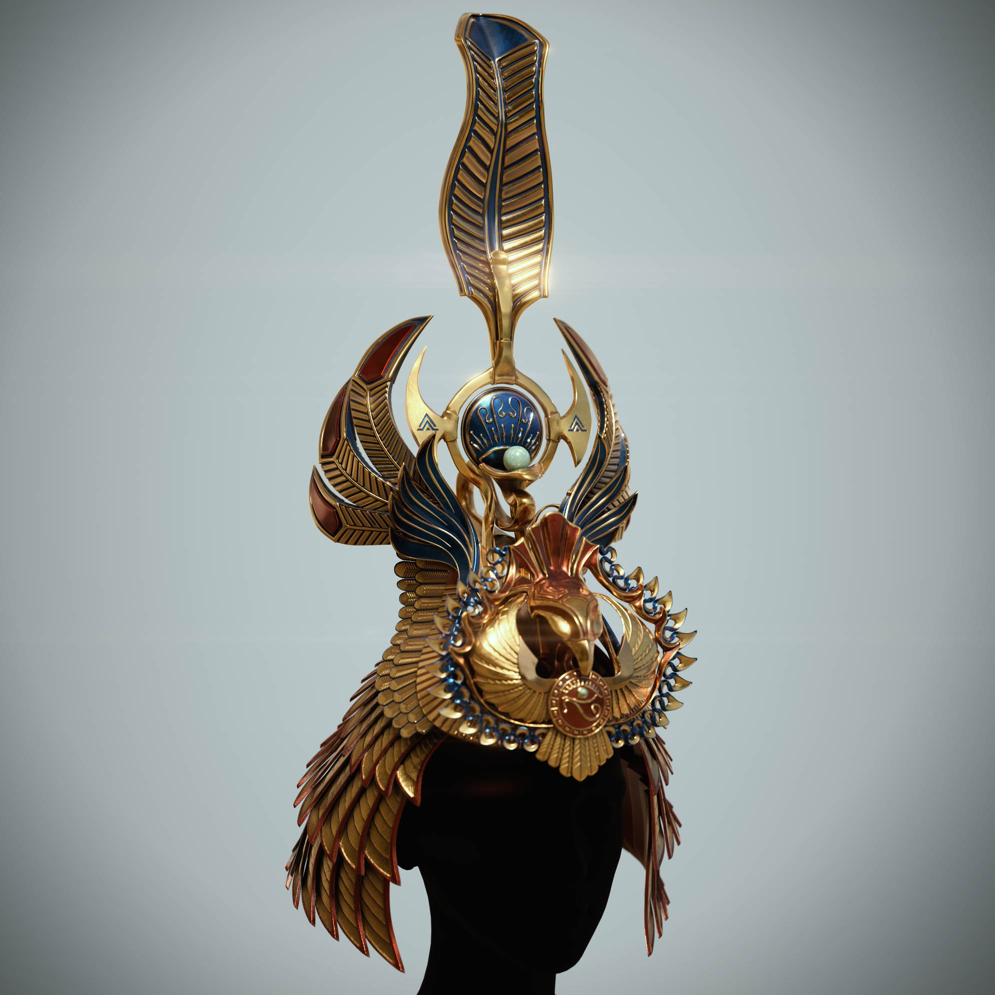 cleopatras_crown_substance_painter_texturing Egyptian queen crown
