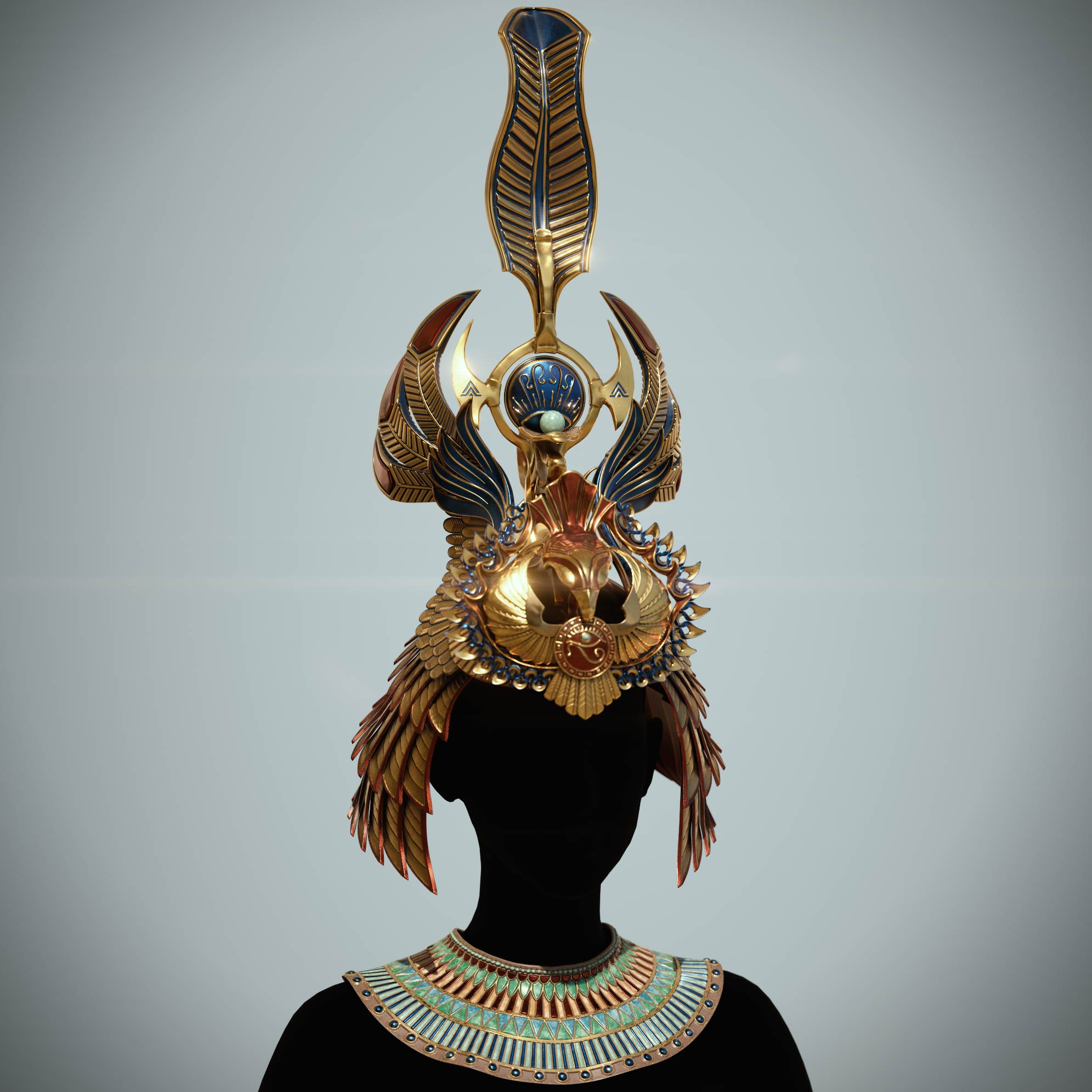 egyptian-queen-crown_substance_painter_texturing Egyptian queen crown
