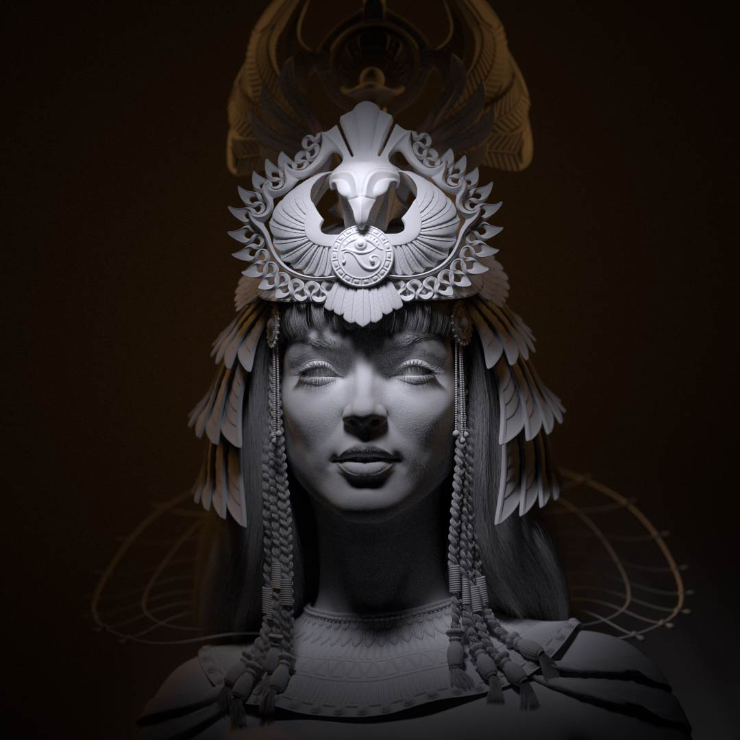cleopatra_Nofretete_CG_character_bust_lighting_alexander_beim Cleopatra CG Character