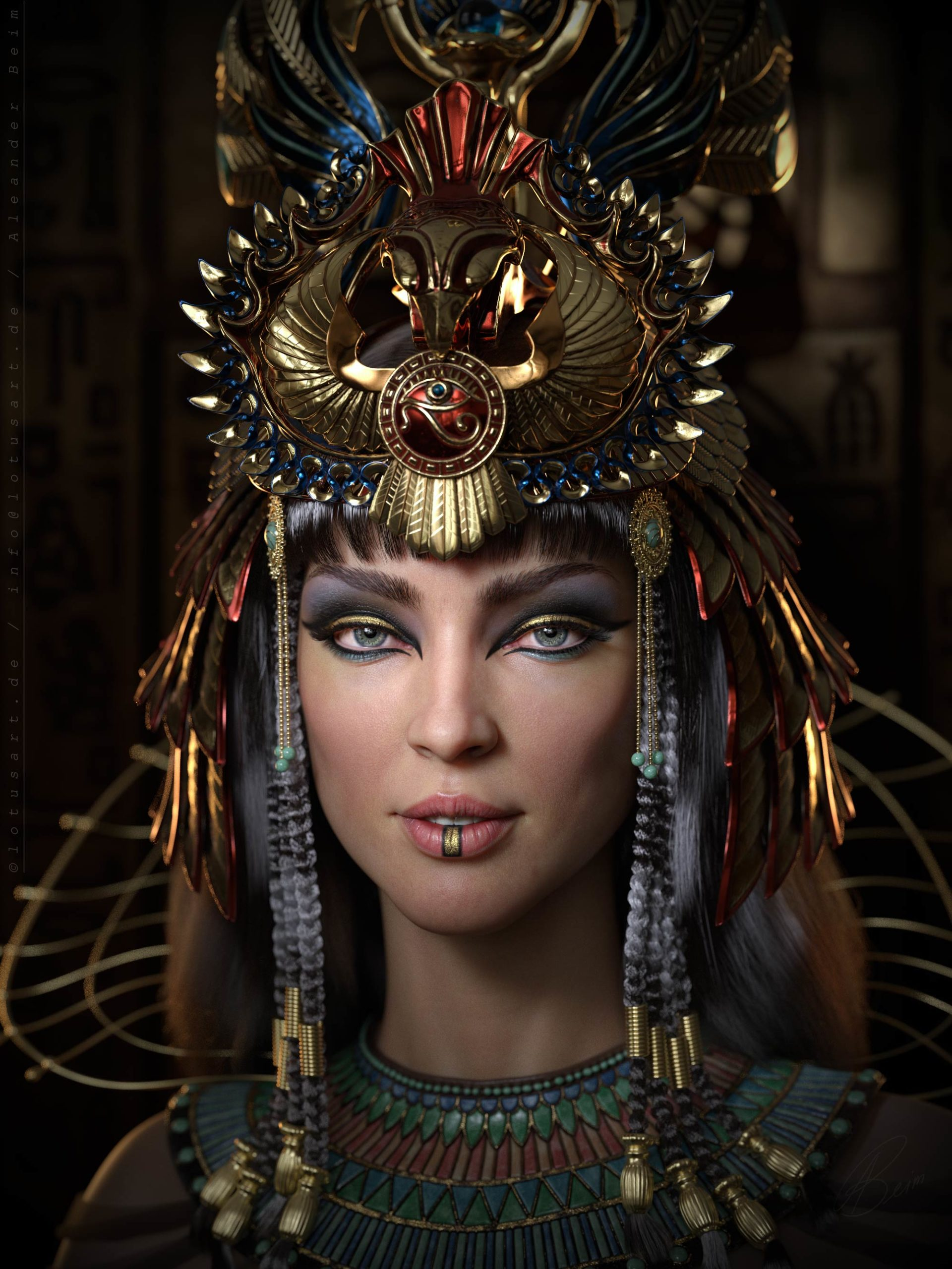 egyptian_queen_Cleopatra_Hatshepsut_Nofretete_3d_character_historical_figure_pharaoh_egypt_hight-scaled Egyptian queen 3D model
