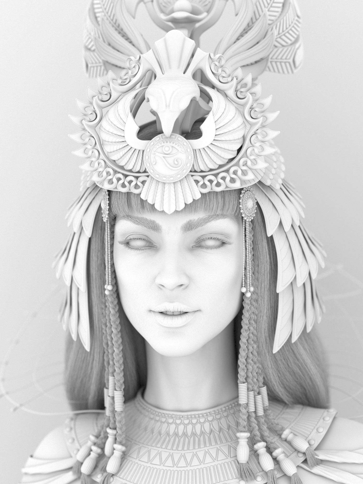 egyptian_queen_Cleopatra_Hatshepsut_Nofretete_CG_character_historical_figure_pharaoh_egypt_hight_ambient-occlusion Egyptian queen 3D model