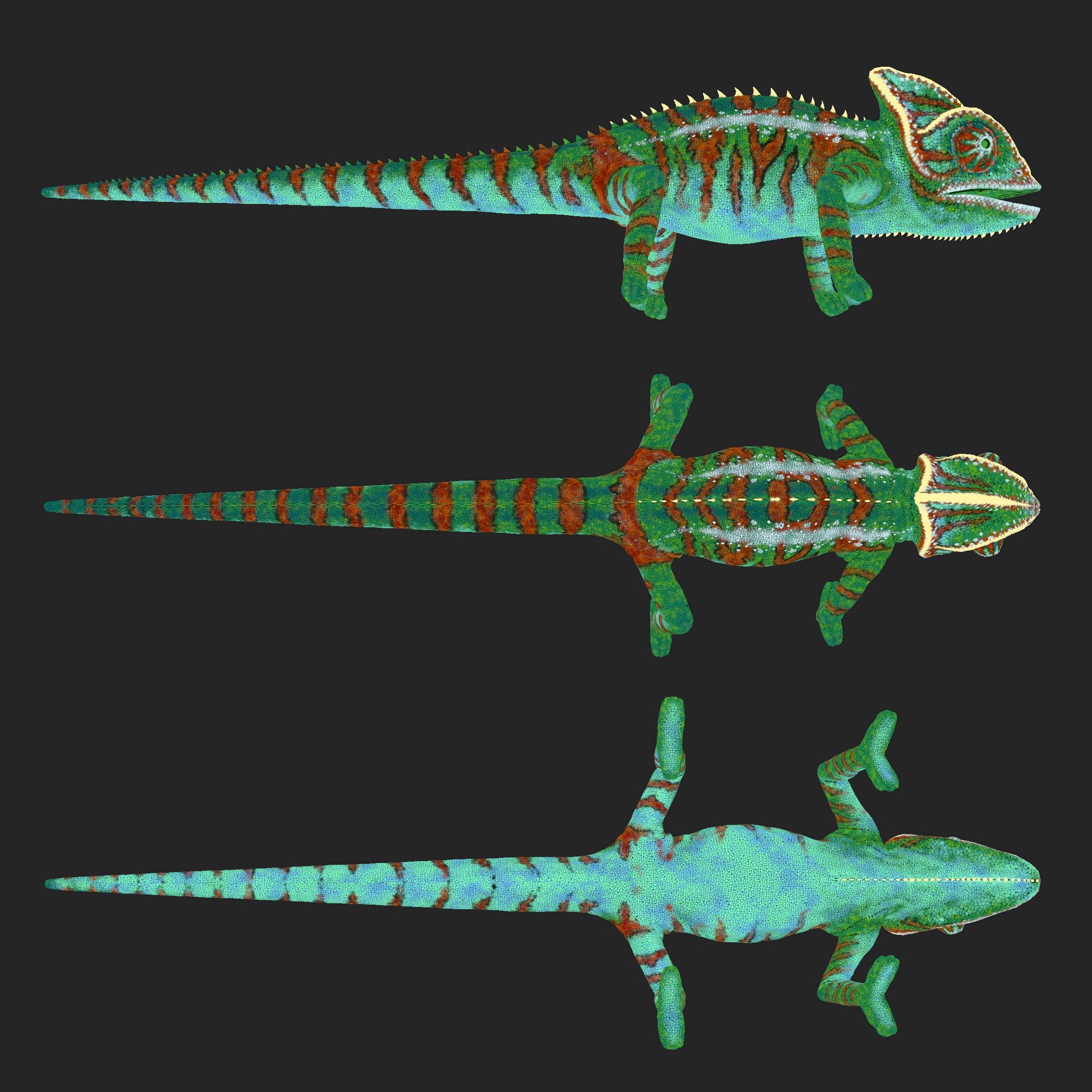 cg_chameleon_animals_textur_substance_painter Chameleon - Animation / TRACKING and MATCHMOVING / VFX